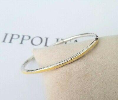 IPPOLITA - Hammered Fatto A Mano Yellow Resin Bangle Bracelet - Stunning!