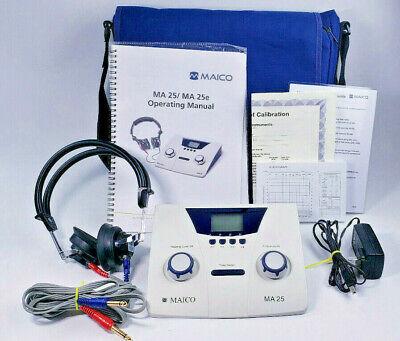 Maico Ma 25 Portable Audiometer With Radioear Dd45 Headphones Tested