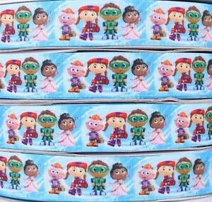 Wholesale-1-25mm-SUPERWHY-NICK-JNR-Printed-grosgrain-ribbon-bow-5-50-100-yards