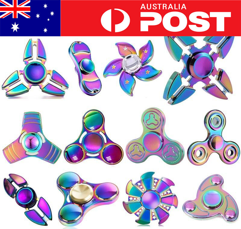 3D AU Fidget Hand Finger Spinner Focus Stress Reliever Toys EDC For Child Adults
