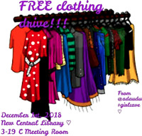 FREE clothing drive!!!From @adaudut by #girlcave <3