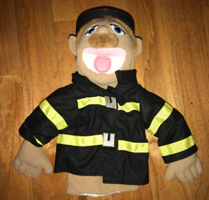 Melissa and Doug Plush Hand Puppet Fireman Fire Fighter Chief