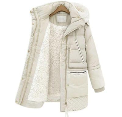 Women's Hooded Warm Snow Overcoat Fleece Jacket Outwear Padded Winter Coat E46 ()