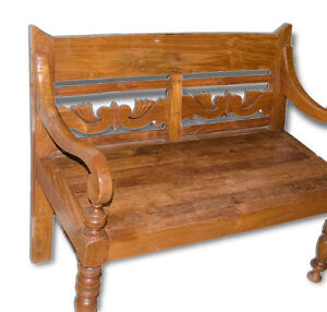 Teak Bench (hand Carved)