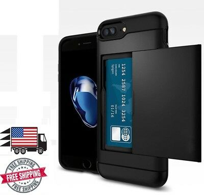 iPhone 8 and iPhone 7 Sliding Wallet Case Credit Card Slot Shockproof