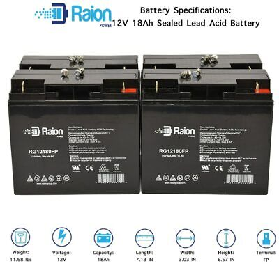 Raion 12V 18Ah Replacement Battery For Best Battery SLA12180 -