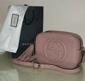 GUCCI SOHO blush pink disco bag
