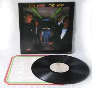 THE WHO, It's Hard,  Records 1982 , ROCK vinyl LP