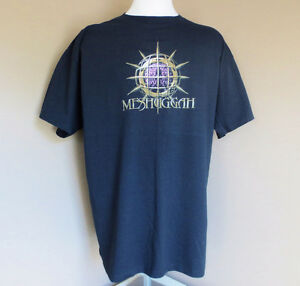 Meshuggah Men's XL Black T-Shirt 100% Preshrunk Cotton NEW
