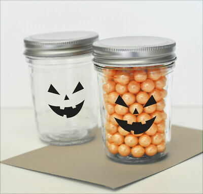 20 Pumpkin Face Halloween Party Stickers Decorations MW18156](Halloween Pumpkin Face Stickers)