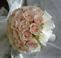 "Blush Pink Wedding Bouquet Flower Package ""Free Sparkle Ball"""