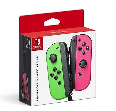 Nintendo Switch Splatoon 2 Joy Con Neon Green   Neon Pink Controller Japan New