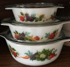 Pyrex Casserole Dishes.
