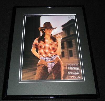 Sandra Bullock in chaps 1997 Framed 11x14 Photo Display