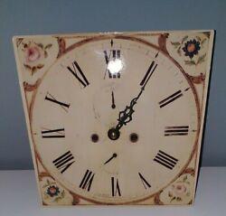 Vintage Gordanne Metal Wall Clock. Bouquet. Battery. 7 1/4 Square