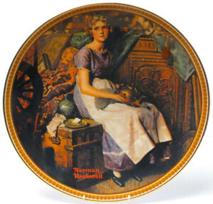 """Dreaming In The Attic"" Rockwell Collector Plate"