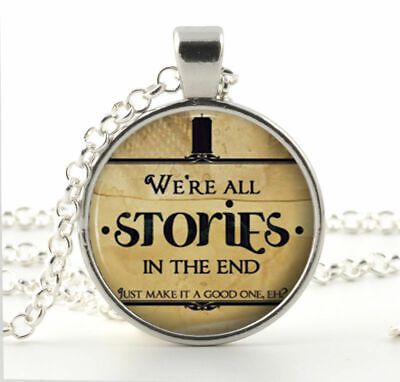 Doctor Who Necklace Pendant Quote Jewelry Charm Silver Dr Who Best Ideas](Necklace Ideas)