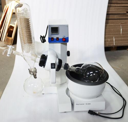 2L Rotary Evaporator Rotavapor Equipment Condenser Lab Distillation Auto Lifting