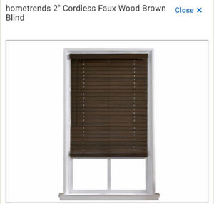 "Faux Wood Blinds 36"" x 64"""