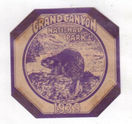 1939 Grand Canyon National Park, Arizona Entrance Permit Sticker