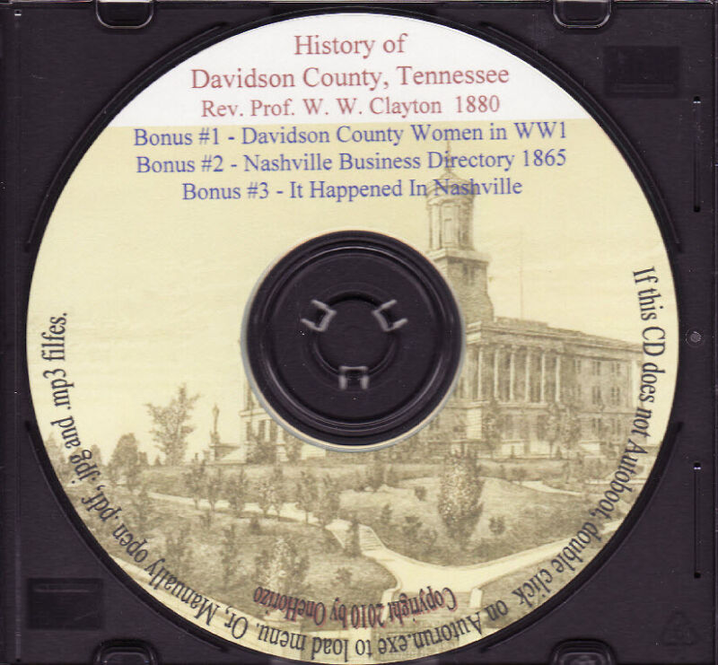Davidson County Tennessee History - Genealogy