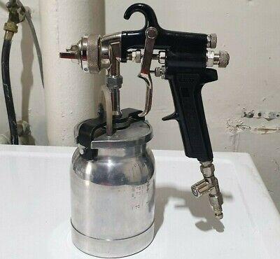 Binks Model 7 Spray Gun And Bottle Used
