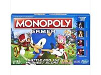 Brand new in sealed box- Monopoly gamers edition