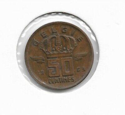 BELGIË / BELGIQUE 50 CENT. 1963 VL.
