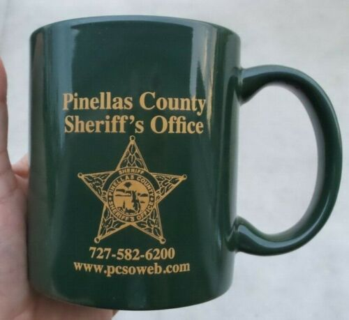 PINELLAS COUNTY FLORIDA SHERIFF COFFEE MUG LEADING THE WAY FOR A SAFER PINELLAS
