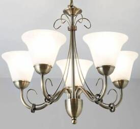 Manor gold 5 lamp pendant ceiling lights