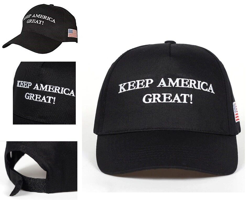2020 Elections 'Keep America Great!' Trump Slogan Adjustable Black Hat Clothing, Shoes & Accessories
