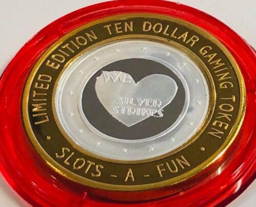 Slots A Fun $10 Silver Strike Token 2007 Red Cap We Love Silver Strikes Ltd 500