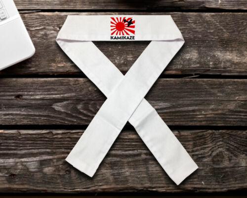 White Kamikaze + Rising Sun Head Band, Karate Headband, Martial Arts Headbands