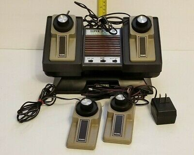 Vintage ATARI Super Pong IV Tele-Games Console W/ 4 Controllers Untested