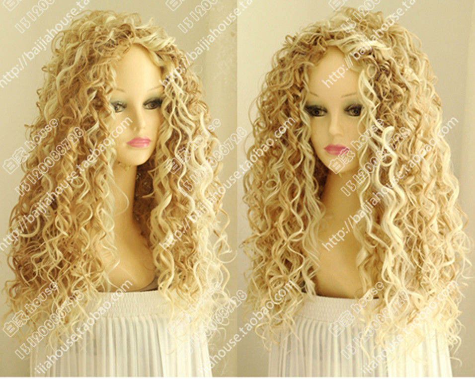 Details about Fashion Wig New Long Sexy Women s Mix Blonde Cosplay Party  Curly Natural Wigs 4c2742bd4840