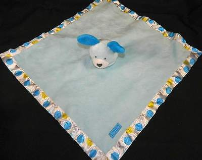 Carters Blue Puppy Dog LOVE ME Polka Dot Satin Rattle Security Blanket Lovey