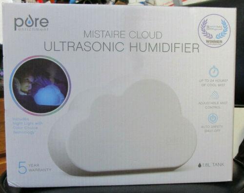 Pure Enrichment Mistaire Cloud 1.8L Tank Ultrasonic Cool Mist Humidifier - New!!
