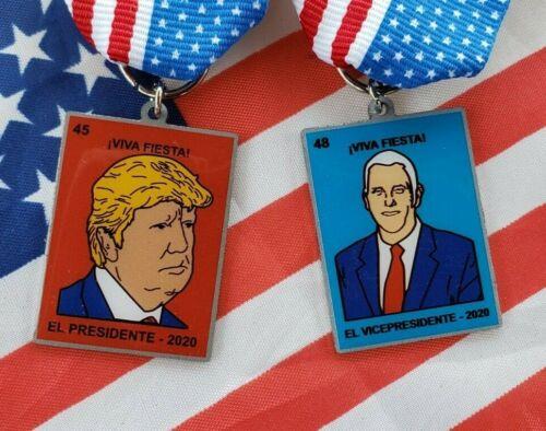 Fiesta Medals San Antonio President Donald Trump Vice Pence 2020 Election Pins