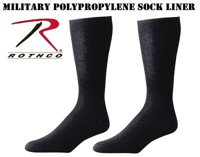 c6e156d3d Military Issue Moisture Wicking Black Polypropylene Sock Liners USA Rothco  6144