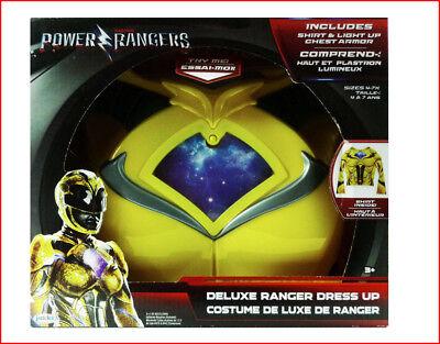 Sabans Deluxe POWER RANGERS Dress Up Costume Set - LIGHTS UP - Size 4-7  YELLOW (Power Rangers Kostüm Sets)