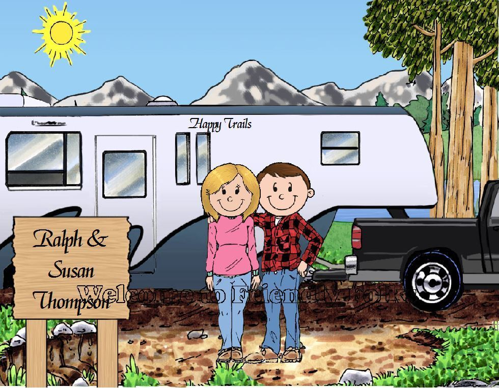 Small Personalized Fifth Wheel Trailer Picture - Makes A Great Gift  - $8.50