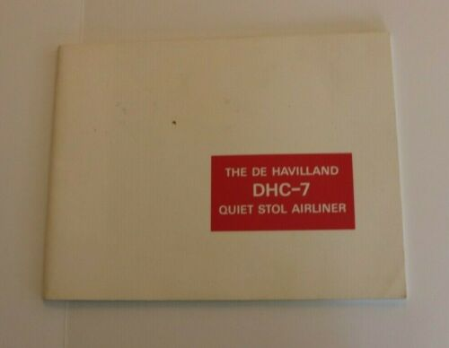 Vintage Booklet DE HAVILLAND DHC-7  QUIET STOL AIRLINER Canada 1969