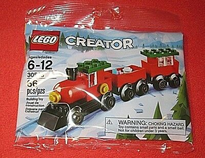 LEGO Creator Christmas Holiday Train (30543)Polybag 66pcs GREAT STOCKING STUFFER