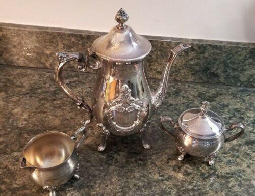 Leonard Silverplate Tea Set / Teapot, Creamer, & Sugar Bowl (Lot 122)