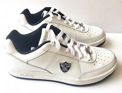 Oakland Raiders Shoes - NFL Reebok White Recline - Mens Size 6 Sneakers for sale  Lakeland