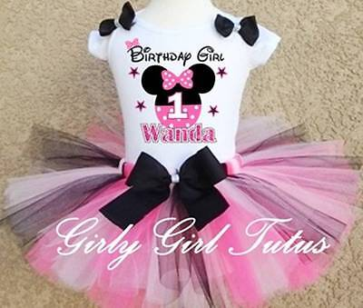 Baby Girl Minnie Mouse 1st & 2nd Birthday Tutu Outfit Dress Party Set - Baby Minnie First Birthday