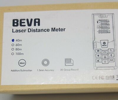 New Laser Distance Meter Measure Beva Digital Distance Meter W Large Lcd 40m