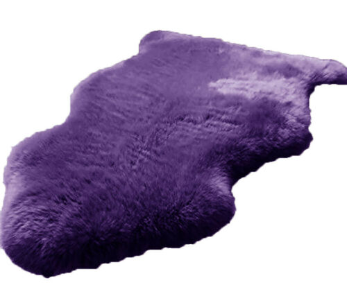 Luxury Purple Fluffy  Sheepskin Long Pile Soft Faux Fur Area Rug  3′ x 5′ Area Rugs