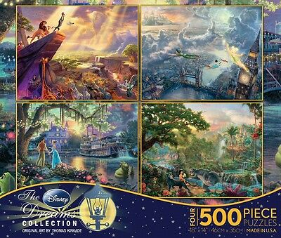 Thomas Kinkade Disney Dreams 4 in 1 Multipack 500 Piece Ceaco Jigsaw Puzzles