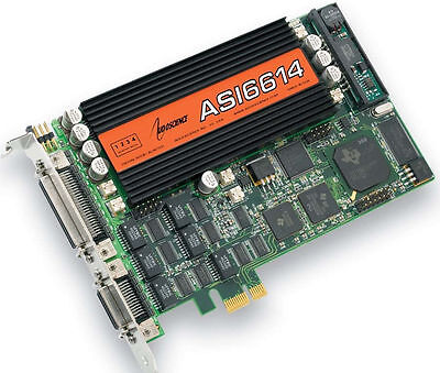 AudioScience ASI6614 Broadcast Multichannel PCIe AES Digital Sound Card Balanced